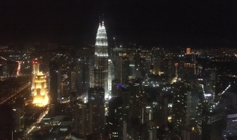 KL's Petronas Towers from the KL Tower
