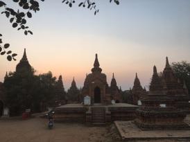 Sunset over some of Bagan's pagodas