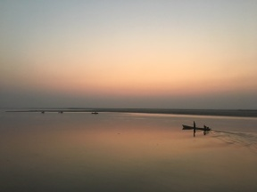 Sunrise along the Irrawaddy River, Myanmar