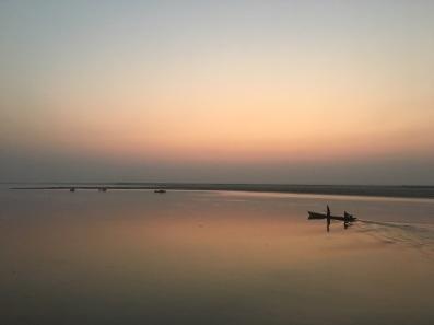 Sunrise along the Irrawaddy River, Myanmar