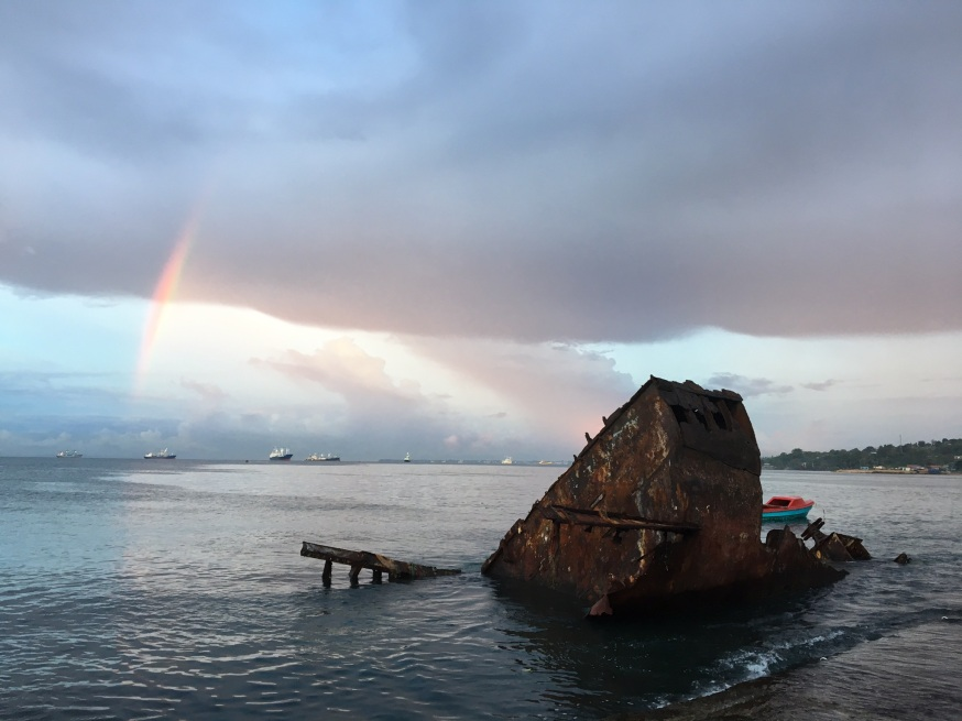 Post WW2 shipwreck by Honiara Central Plaza, Solomon Islands
