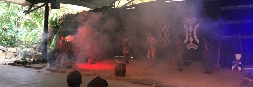 Cultural dance at Tjapukai Aboriginal Cultural Park