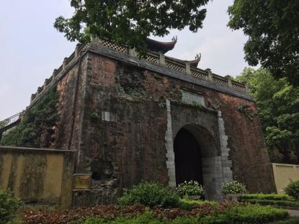 Cannonball damaged Hanoi Citadel, Vietnam