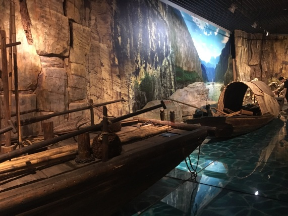 The ancient Yantze River display at Three Gorges Museum