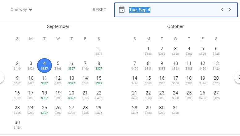 cost calendar