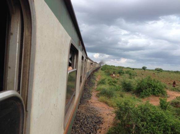 Train from Nairobi to Mombasa, Kenya